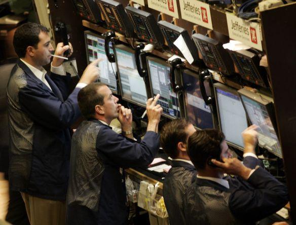 Investors react to the market slump.