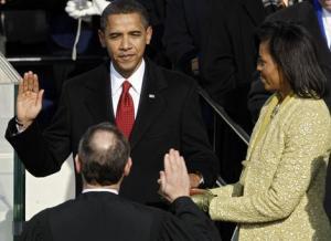 Barack Obama Sworn in as US President