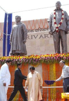 Inauguration of Memorial Park with the installation of statues in Lucknow, the capital of the Indian State of Uttar Pradesh (UP).